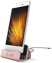 Dock Charger Laadstation met Type C Aansluiting Roze / Rosé Goud - USB-C Oplaadstation Dockingstation - voor onder andere Samsung Galaxy S8 (Plus) / Huawei P10 (Plus) / Sony Xperia XZs / HTC 10 / Samsung Galaxy A3 / A5 / A7