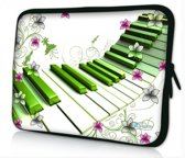 Sleevy 14 inch laptophoes artistiek piano design