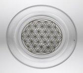 Nature's Design Drinkglas Mythos met Bloem des Levens platina (250 ml)