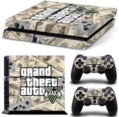 GTA V Money - PlayStation 4 sticker - PS4 GTAV console skin bundel