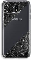 Samsung Galaxy J5 (2017) Transparant Hoesje (Soft) - Zwart marmer
