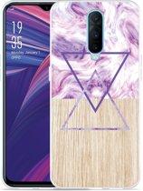 Oppo RX17 Pro Hoesje Color Paint Wood Art