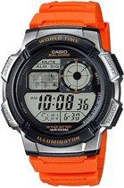 Casio AE-1000W-4BVEF Horloge - Kunststof - Oranje - Ø 43.7 mm