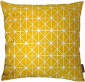Yellow Plaid Kussenhoes | Canvas | 45 x 45 cm | Geel