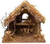 Kerststal zonder figuren 30 cm - lege kerststallen