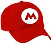 Feestpet Mario / loodgieter rood voor volwassenen - verkleed pet / carnaval pet