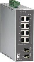 LevelOne IES-1071 Managed L2 Fast Ethernet (10/100) Zwart