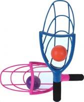 Tender Toys Gooi- En Vangbalspel 58 Cm Blauw-roze 4-delig