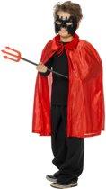 Halloween kostuum Duivelscape rood kind Maat 140