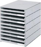 Styro ladenblok Styroval met 10 open laden grijs