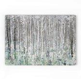 Art for the Home - Canvas Schilderij - Bos - Grijs/groen - 100x70 cm