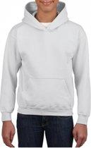 Witte capuchon sweater voor jongens S (116-128)