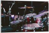Plexiglas –Drumstel– 60x40 (Wanddecoratie van Plexiglas)