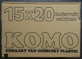 KOMO huisvuilzakken - doos - 15 rollen x 20 stuks