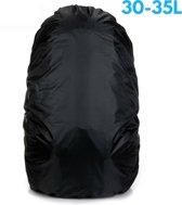Flightbag - Waterdichte 35 Liter Regenhoes / Regencover voor Backpack of Rugzak – Zwart