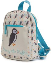 Pink Lining Child Mini Rucksack - Percy The Puffin