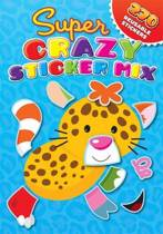 Super Crazy Sticker Mix Blue