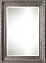 Qweens - Spiegel - Gina- antiek zilver - buitenmaten breed 86 cm x hoog 116 cm.