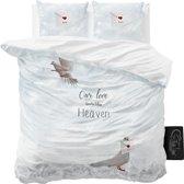 Sleeptime Birds in Heaven - Dekbedovertrekset - Tweepersoons - 200x200/220 + 2 kussenslopen 60x70 - Wit