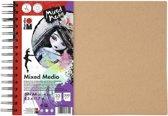 Ringboek mixed media dina4 300g  aquarell papier
