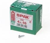 Spax Spaanplaatschroef cilinderkop verzinkt T-Star T20 4.5x16mm (per 200 stuks)