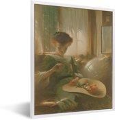 Foto in lijst - The Ring - Schilderij van John White Alexander fotolijst wit 30x40 cm - Poster in lijst (Wanddecoratie woonkamer / slaapkamer)