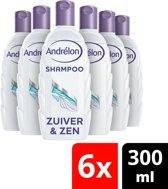 Andrélon Natuurlijk Puur Zuiver & Zen Shampoo - 6 x 300 ml - Voordeelverpakking