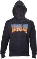 DOOM - Vintage logo heren vest met capuchon zwart - Merchandise games - XL