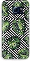 Samsung S6 Edge Volledig Geprint Hoesje (Hard) - Geometrische jungle