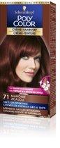 Poly Color Crème Haarverf 71 Mahonie - 1 stuk - intensieve, natuurlijke kleuren met 100% grijsdekking