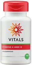 Vitals - Vitamine A 4000 i.e. - 100 Capsules - Vitaminen