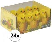 24x Paaskuikentjes 3 cm - Paasversiering / Paasdecoratie