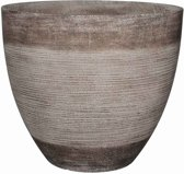 Mica Decorations Echo ronde pot taupe maat in cm: 39,5 x 45