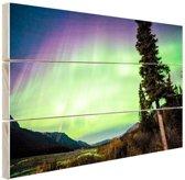 FotoCadeau.nl - Noorderlicht foto afdruk Hout 120x80 cm - Foto print op Hout (Wanddecoratie)