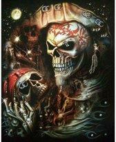 Pirate Skulls - Diamond Painting 40x50 (Volledige bedekking - Vierkante steentjes)