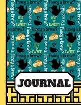 Fancy A Brew? (JOURNAL): Tea and Cake Themed Print Writing Gift - Lined Journal for Women