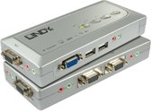 Lindy KVM Switch Compact USB Audio 4 KVM-switch