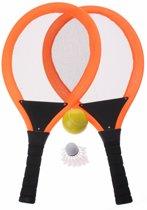 Eddy Toys Tennisset Oranje 55 Cm 4-delig