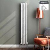 Enkele Designradiator Ember Premium Verticaal Hoogglans Wit Ovaal - 160 x 24 cm