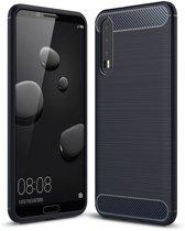 Huawei P20 Plus hoesje - Rugged TPU Case - blauw
