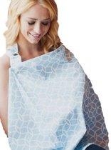 Udder Covers Voedingsdoek Sloane - Lichtblauw/Wit