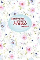 Weight Loss Weekly Meal Planner: 52 weeks of Food Menu Planning with Grocery Shopping List, Recipe pages Size 6x9 in - Floral Print