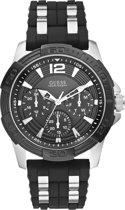 GUESS Watches -  W0366G1 -  horloge -  Mannen -  RVS - Zwart -  45  mm