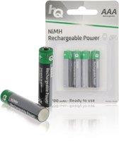 HQ, Oplaadbare NiMH AAA -Batterij 700 mAh, blister 4 stuks