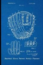 Baseball Glove Patent Weekly Planner