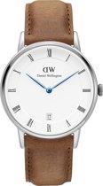 Daniel Wellington Dapper Durham DW00100114 - Horloge - Leer - Bruin - Ø 34 mm