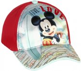 Mickey Mouse petje rood 52 cm