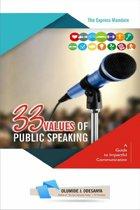 33 Values of Public Speaking