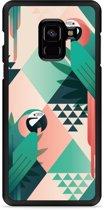 Galaxy A8 Plus 2018 Hardcase Hoesje Exotic Trendy Parrots