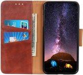 Shieldcase Wallet bookcase iPhone 11 Pro Max (bruin) +  Glazen Screenprotector